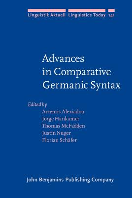 Advances in Comparative Germanic Syntax -- Front Cover